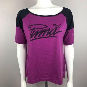 Puma Purple Color block  Tee